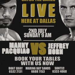 [EpiLife] Catch Pacquiao vs Horn battling it out live at Dallas as we'll be playing the highly anticipated Battle of