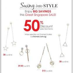 [Chomel] Swing into style with these pretty earrings at 50% OFF!