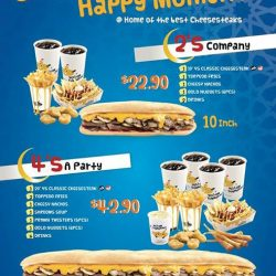 "[Yellow Submarines] Our 10"" and 20"" Submarine* Meal Deals have been enjoyed by many happy Submariners!"