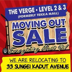 [Novena] Moving Out Sale is ongoing at The Verge showroom!