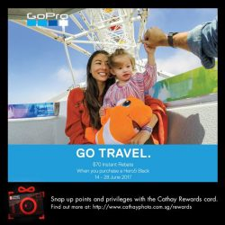 [Cathay Photo] Make your outdoor adventure a splash-worthy one with the GoPro HERO5 Black, and enjoy a S$70 instant rebate