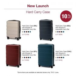 [MUJI Singapore] Try out our newly launched Hard Carry Cases at 4 different sizes to meet your travel needs.