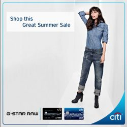 [Citibank ATM] Shop this Great Summer Sale with 50% off on selected items at G-Star RAW, Outdoor Products and Marimekko.