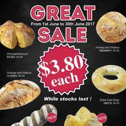 [Duke Bakery] We are having Great Sale in June 2017, please come to enjoy our delicious breads!