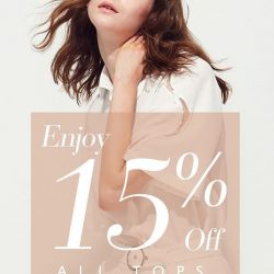 [SocietyA - Shoes & Accessories Lounge] It's your last chance to get 15% off all regular-priced tops!