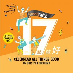 [BreadTalk® Singapore] 1 more day to our anniversary celebreadtions and promotions!