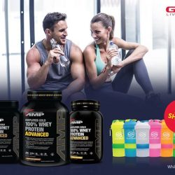 [GNC Live Well Singapore] Amp up your performance with GNC Amp Gold 100% Whey Receive a FREE Shaker with any purchase: http://bit.