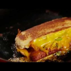 [Swissbake] Oozing grilled cheese + hot dog in a bun = heaven.