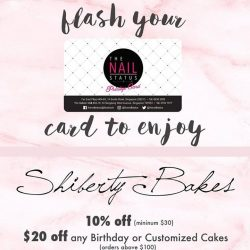 [The Nail Status] Head down to @shibertybakes cafe with your TNS Privilege Card for a delicious all day brunch or some sweet desserts !