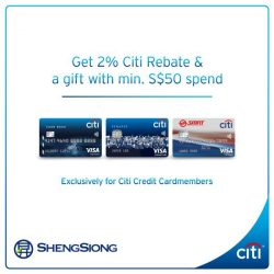 [Citibank ATM] Get a complimentary bundle of 5 tissue boxes and 2% Citi Rebate with a min.
