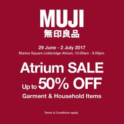 [MUJI Singapore] Drop by MUJI External Sale tomorrow to grab the best buys before they are sold out!