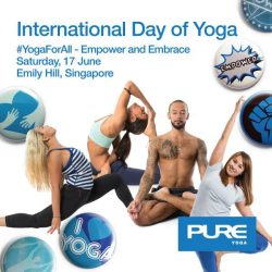 [Funfit] To honour International Day of Yoga (21st June), Pure Yoga Singapore will be conducting 3 *FREE* classes and great prizes