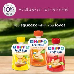 [10 10 Mother & Child Essentials] HiPP Fruit Fun come in handy pouches and are ideal companions when being out and about - ideal as an in-