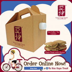 [Ya Kun Kaya Toast] Fancy having our Kaya Toasts and kopi delivered right to your home this morning?