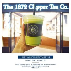 [The 1872 Clipper Tea Co.] IT'S ICED TEA DAY!