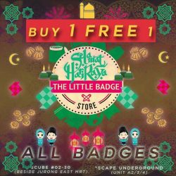 [THE LITTLE BADGE STORE] Spreading the joy and festivities with the joy of giving at our outlets islandwide.