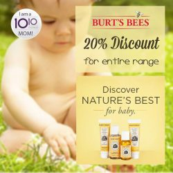 [10 10 Mother & Child Essentials] Burt's Bees softens and soothes baby's skin with rich, moisturising formulas made from natural ingredients!