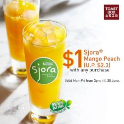 [Toast Box Singapore] Beat the heat with Sjora® Mango Peach!