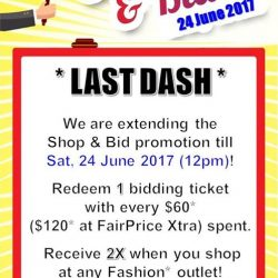 [AMK Hub] Due to overwhelming response, we are extending the Shop & Bid promotion till Sat 24 June 2017, 12pm!
