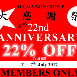 [TONKATSU BY MA MAISON] Dear Ma Maison Members, Thank you for your support all this years.
