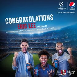 [KFC Singapore] Congratulations Eric Lee - pack your bags because you're off to Wales!