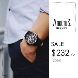 [Arbutus] Featuring complications such as calendar functions and 24-Hour sub-dials, Arbutus watches appeal to the aspirations of trendy cosmopolitan