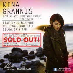 [Hood Bar and Cafe] Tickets are FULLY SOLD OUT for Kina Grannis gig at Hood Bar and Cafe tonight!