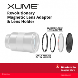 [Cathay Photo] If you're a user of filters, you may be interested in the Manfrotto XUME Adapter - a revolutionary magnetic solution