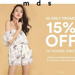 [MDSCollections] Last day to enjoy 15% off at mdscollections.