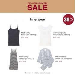 [MUJI Singapore] Choose fuss-free Inner wear that gives you all the comfort and support you need day in or day out.