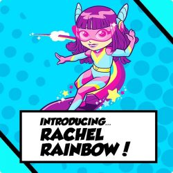[Smiggle] will rachel be able to use her rainbow colours to save planet earth?