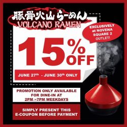 [Tonkotsu Kazan] E-Coupon promotion Exclusively at our Novena Square 2 outlet for 4 days only!