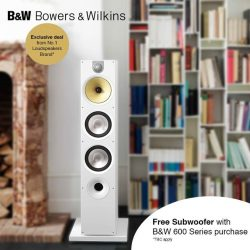 [B&W Bowers & Wilkins] Don't forget visiting our showroom to enjoy the very last days of promotion and receive Free Subwoofer from true