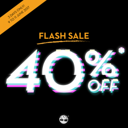 [Timberland Singapore] FLASH SALE is happening TODAY!
