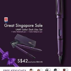 [LAMY Singapore] The Great Singapore Sale is now on at LAMY