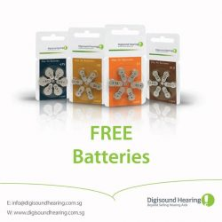 [Digi-Sound Hearing Care Centre] Call us at 6338 9626 to find out how to get free batteries for a year!