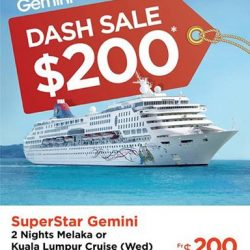 [WTS TRAVEL] We are excited to share with you our 7 days Dash Sales for Star Cruises (丽星邮轮) SuperStar Gemini from today till