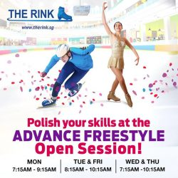 [THE RINK] Advance freestyle skaters, here's your chance to hone your skills at our Advance Freestyle Open Session!
