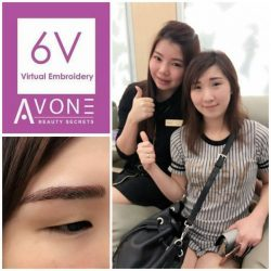 [AVONE BEAUTY SECRETS] Dear sweet Pearly is very delighted with her brows beautifully redefined with our ABS 6V Korean Virtual Brows Embroidery!