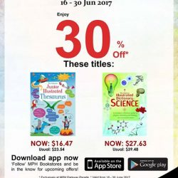 [MPH] Exclusive MPH Offer On Parkway Parade App 30% off featured titles Promotion period 16 -30 June 2017