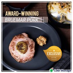 [Cold Storage] Delivered fresh from Australia each week, our award-winning Bruemar Pork is guaranteed to be the most tender and succulent