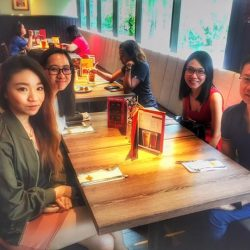 [Hard Rock Café] We were out and about around the offices of Forum, hunting for lucky winners for our set lunch!