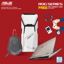 [ASUS] Purchase any ROG Desktop PCs OR ROG Notebook models and receive a FREE ROG Compact Case (worth $39.