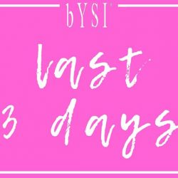 [bYSI Singapore] We are approaching the last 3 days of our promotion to enjoy 15% off 3 items or more.