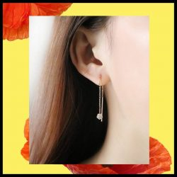 [Goldheart Jewelry Singapore] Drop earrings, designed to be shown off.