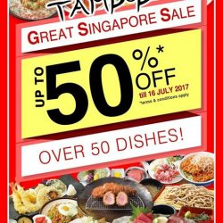 [Tampopo Grand] More reasons for you to dine at TAMPOPO this GSS season - Enjoy up to 50% discount* on over 50 dishes!