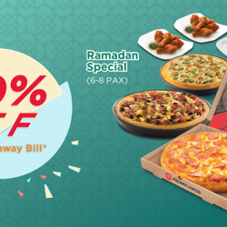 [Pizza Hut Singapore] Bring your favourite pizzas wherever you go with an exclusive takeaway deal!