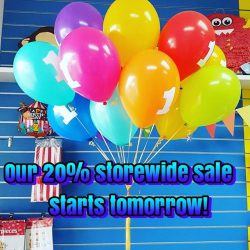 [The Party Stuff!] See you are our storewide sale tomorrow and Monday!