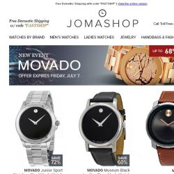 [Jomashop] NEW ARRIVALS: Movado • TAG Heuer • R. Minkoff • Casio • AeroWatch