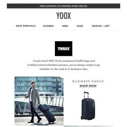 [Yoox] Thule: stylish accessories for travelling with complete peace of mind